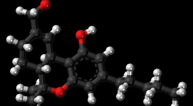 Bild eines THC Molekühls