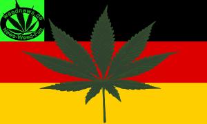 Deutsche Cannabis Fahne